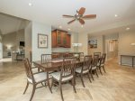 Dining Table at 17 South Live Oak provides seating for 10