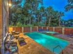Enjoy an Evening Swim in the Fully Fenced Pool Area at 17 South Live Oak