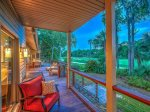 Enjoy Beautiful and Peaceful Golf Course Views from the Back Deck at 17 South Live Oak