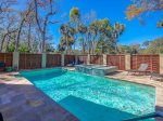 Pool and Deck at 17 South Live Oak Road in the heart of Sea Pines on Hilton Head Island