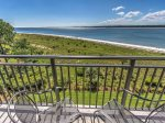 Private Balcony off second master bedroom offers wonderful views of the Calibogue Sound at 1933 South Beach Club