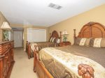 1839 Beachside Tennis Guest bedroom has a flat panel TV and large closet