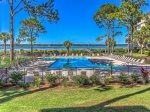 Oceanfront pool at the Beachside Tennis Complex in the South Beach Area of Sea Pines