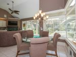 Eat In Kitchen Table with Views of Pool and Lagoon at 26 Sea Lane