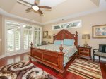 Master Bedroom with Deck Access and King Bed at 26 Sea Lane