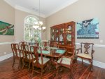 Formal Dining Room Seats 10 at 26 Sea Lane