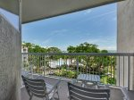 Private balcony with ocean views at 409 Barrington Court