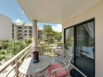 Balcony off Master Bedroom with Views of Pool and Ocean at 1201 Villamare