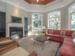 Living Room Located off Kitchen Offers Beautiful Golf Course Views at 102 Baynard Cove