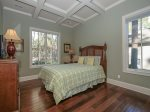 Guest Bedroom with Queen Bed Located off Master Suite at 102 Baynard Cove
