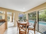 Eat In Kitchen Table with Pool Views at 20 Red Cardinal