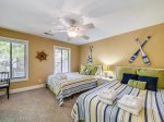 Upstairs Guest Bedroom with Two Queen Beds at 15 Fazio