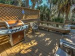 Back Deck with BBQ Grill at 28 Shell Ring
