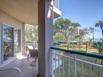 Private Balcony with Access from Living Room and Guest Bedroom at 4202 Windsor Court North