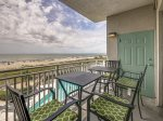 Balcony off Master Bedroom with Ocean and Pool Views at 3303 Sea Crest