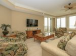 Living Room with Access to Ocean Front Balconies at 3303 SeaCrest