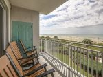 Balcony with Ocean Views with Access from Living Room and Queen Bedroom at 3303 Sea Crest