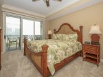 Master Bedroom with King Bed and Ocean Views at 3303 Sea Crest