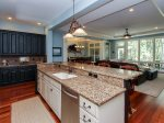 Kitchen Opens to Living Room and Dining Room at 46 Shell Ring