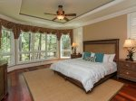 Master Bedroom with King Bed Located on 1st Floor at 46 Shell Ring
