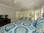 Guest Bedroom Overlooks Lagoon at 46 Shell Ring