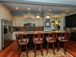 Beautifully Updated Kitchen with Breakfast Bar at 46 Shell Ring
