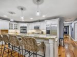 Updated Kitchen with Breakfast Bar at 14 South Beach Lane