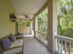 Second Floor Covered Porch Overlooks Pool at 218 Cordillo Parkway
