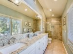 Spacious Master Bathroom with Shower/Tub Combo at 9 Beach Lagoon