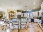 Beautifully Updated Kitchen with Breakfast Bar at 9 Beach Lagoon