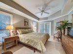 Guest Bedroom with Screened Porch Access at 8101 Wendover Dunes