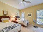 Guest Bedroom with Two Twin Beds at 8101 Wendover Dunes