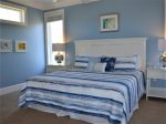 Guest Bedroom with King Bed on Second Level at 29 Sandpiper