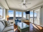 Direct Ocean Views from Living Room at 3504 SeaCrest