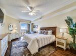 Master Bedroom with King Bed at 3504 SeaCrest