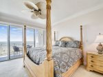 Master Bedroom with King Bed, Private Balcony and Ocean Views at 3405 SeaCrest
