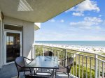 Main Balcony with Access from Living Room and Master Bedroom at 3405 SeaCrest