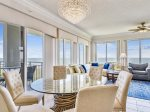 Dining Table with Ocean Views at 3405 SeaCrest