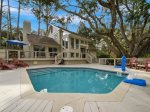 Pool and Deck at 9 Bald Eagle West in Sea Pines