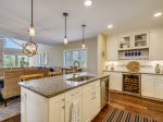 Kitchen Opens to Dining Area and Living Room at 9 Bald Eagle West