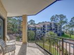 Main Balcony with Views of Pool and Calibogue Sound at 1873 Beachside Tennis