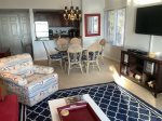 Living Room Opens to Dining Area and Kitchen at 1873 Beachside Tennis