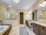 Large Master Bathroom with Double Vanity at 159 Mooring Buoy