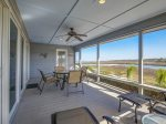 Large Screened Porch Overlooking Braddock Cove at 44 Lands End
