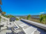 Back Deck with Views of Calibogue Sound at 44 Lands End