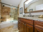 Private Renovated Guest Bathroom with Shower/Tub Combo at 16 Heath Drive