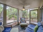 Screened Porch at 7 Rice Lane