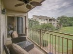 Balcony Access off Master Bedroom as well as Living Room at 1757 Bluff Villa