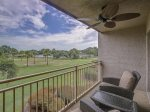 Balcony off Living Room with Beautiful Water Views at 1757 Bluff Villa