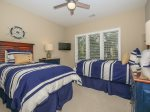 Third Guest Room with Two Twin Beds at 22 Shell Ring